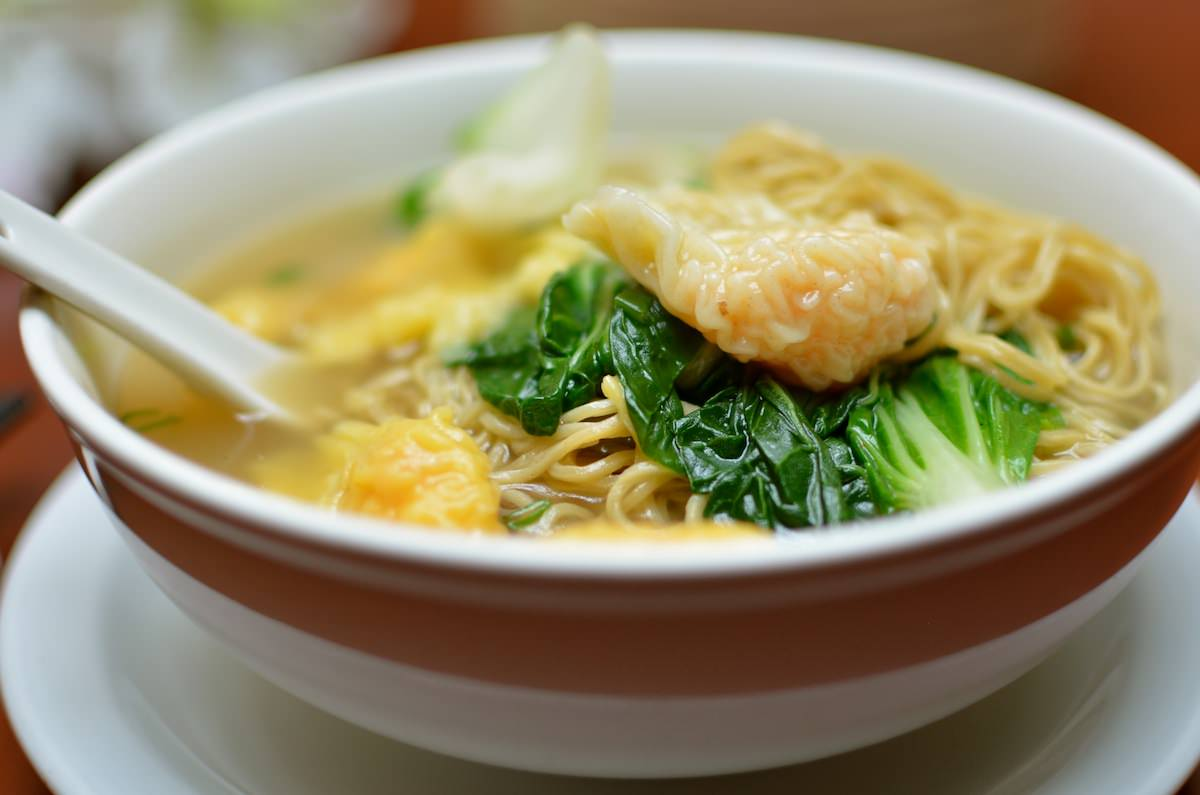 Prawn Wanton Soup with noodles